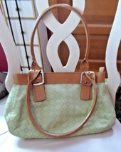 Nine West lime green and tan handbag  - $14.50