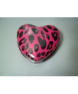 Victoria's Secret Sugar Free Cinnamints In Pink Animal Print Heart Shape... - $25.99