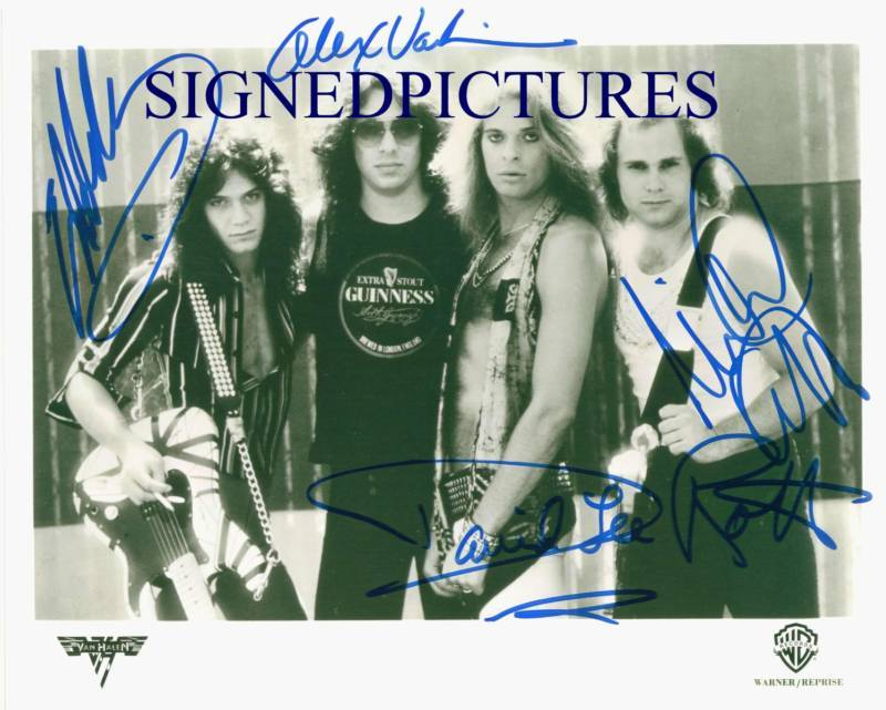 VAN HALEN SIGNED AUTOGRAPHED 8x10 PUBLICITY RP PHOTO with DAVID LEE ROTH AWESOME