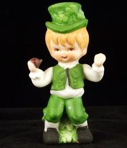 Vintage Lefton Irish boy bisque figurine with s... - $15.00
