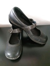 BORN Slip On Buckle Shoes Leather Black Size 10 US Mary Jane Flats 42 EUR - $24.70