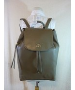 NWT Tory Burch Porcini Gray Leather Brody Large Backpack - $394.00