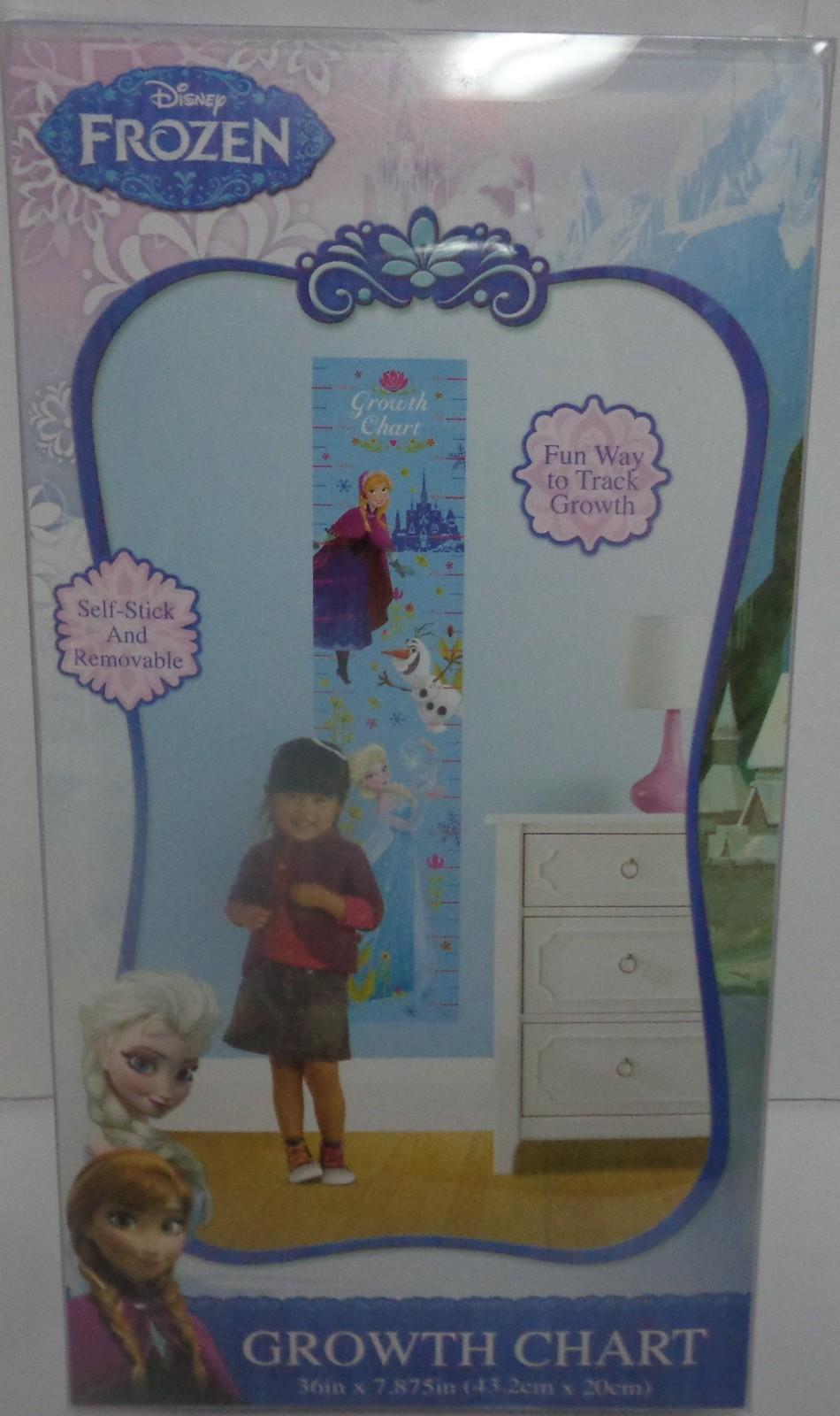 Frozen Elsa Anna Growth Chart NIB Self Stick & Remove