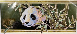 Janlynn Bamboo Panda Counted Cross Stitch Kit 13-251 Gold Threads 17x9 New - $28.98