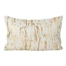 Fennco Styles Distressed Metallic Foil Design Cotton Down Filled Throw P... - $37.61