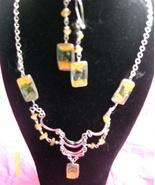 Alpaca Silver Necklace Set w Earrings  ( R-9 ) - $19.95