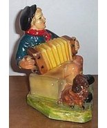 Concertina Accordion Figurine Boy Plays The Button Box - $25.00