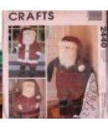 McCall's Crafts 2440 SANTA DOOR GREETERS DOLL Pattern  - $16.00