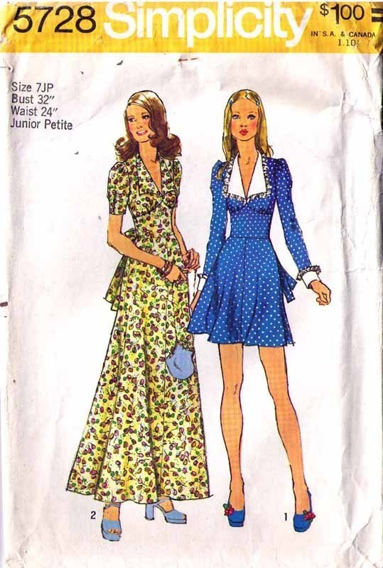 Simplicity Sewing Pattern (1970s): 7 customer reviews and 927 listings