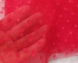 Knee Length Pleated Tulle Skirt Red POLKA DOT Tulle Skirt Bridesmaid Party Skirt image 4