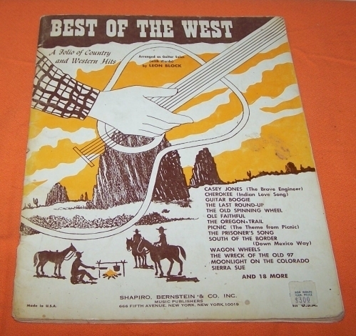 Primary image for The Best Of The West Music Book Country & Western Hits