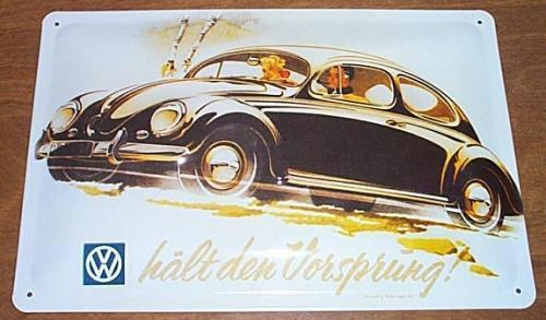 Vw coupe advertising sign