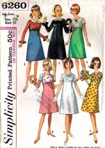 1965 EMPIRE DRESS Pattern 6260-s Sub-teen Size 10 - Complete - $9.99