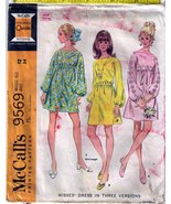 1968 DRESSES Pattern 9569-m Size 12 - Complete - $12.00