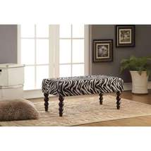 Benzara Zebra Print Bench BM158798 - €123,12 EUR