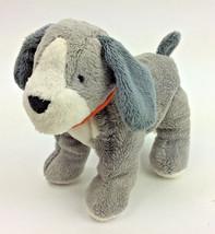 "Carters Puppy Dog Grey Orange Bandanna Baby Soft Toy 7""  Plush #66743 - $62.83"