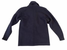 Vintage Women Navy Blue Ralph Lauren Wool Cardigan Sweater M Made in Hong Kong image 3