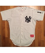 Authentic Rawlings NY New York Yankees Blank Pinstripe Home Jersey 48 vi... - $99.99
