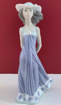 "LLADRO #5644 ""SUSAN"" Girl with Flowered Hat Figurine Retired 8.25"" Tall - $74.24"