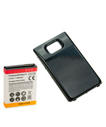Long Life 3600mAh Extended Battery + Back Cover for Samsung Galaxy S2 i9... - $10.88