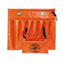 Klein Tools Small Aerial Apron 8-Pocket Water-Resistant Vinyl Bright Orange - €75,08 EUR