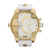 Diesel DZ7273 little daddy white gold dial white leather strap unisex watch - $221.85 CAD