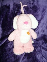 PRESTIGE PINK BUNNY MUSICAL CRIB PULL TOY CARROT PLAYS BRAHMS NWOT PLUSH - $39.59