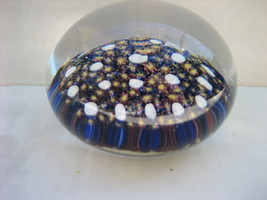 Vintage Unsigned MILLEFIORI Bouquet Art Glass Closepack Paperweight w/ D... - $235.00