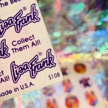 Early Vtg Lisa Frank Full Sticker Sheet S108 Dancing Rainbow Bear Perfect image 2