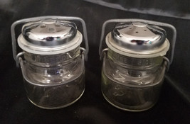 VINTAGE WIRESIDE CANNING JAR SALT AND PEPPER SHAKERS - $10.80