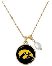 Iowa Hawkeyes Diana Gold and Pearl Saturn Necklace Jewelry Gift Black Ye... - $16.82