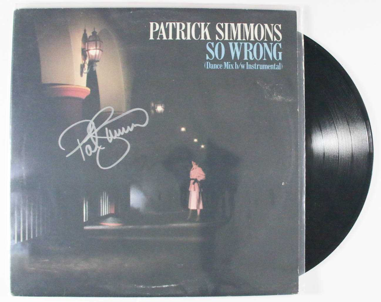 "Primary image for Patrick Simmons Signed Autographed ""So Wrong"" Record Album"