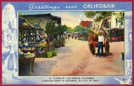 LOS ANGELES CALIFORNIA Olvera St Mexican Linen CA - $6.00