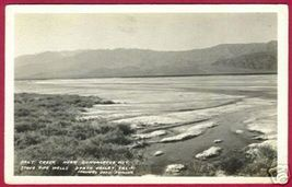 DEATH VALLEY CALIFORNIA Salt Creek Bungalette City RPPC - $8.00