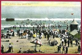 LONG BEACH CALIFORNIA Surf Bathing Beach People CA - $10.00