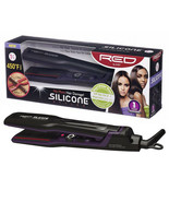 """RED BY KISS SILICONE STYLER FLAT IRON 1 1/2"""" 450°F HAIR STRAIGHTENER #FI... - $34.60"""