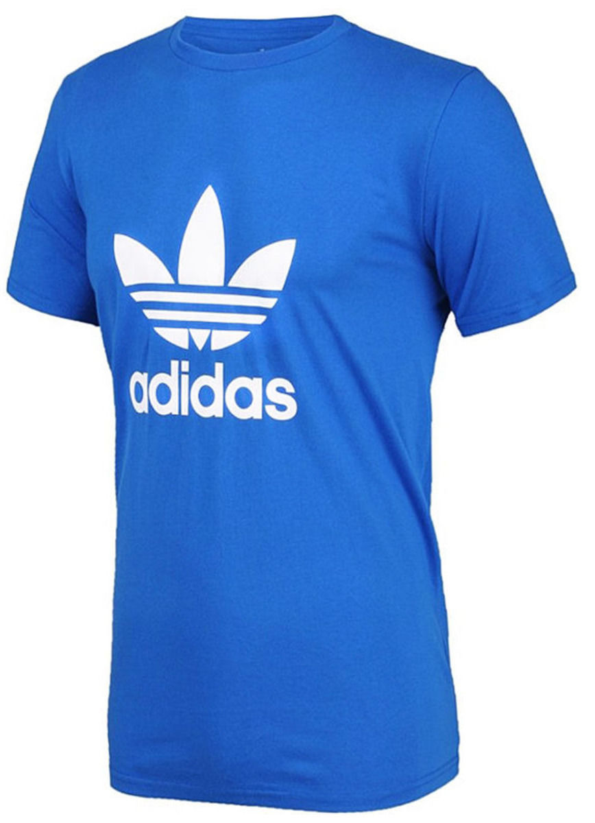 adidas Originals Men's Shirt Trefoil Tee T-shirt Licensed Bright Blue