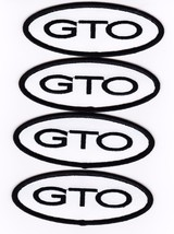 Pontiac Gto (4) White Black SEW/IRON On Patch Badge Embroidered 5.7L 6.0L - $12.99