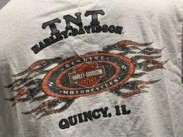 Vis It Let's Ride Harley Davidson Tnt Quincy Il T-Shirt Taille XL - $14.02
