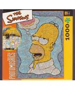 Simpsons Homer Photomosaic Jigsaw Puzzle 1000 Pieces Fun Challenge TV Sh... - $35.00