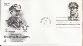 "GEN DOUGLAS MACARTHUR 1971 "" I Shall Return"" First Day Cover - $3.95"