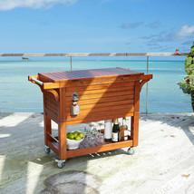Tommy Bahama 100 Quart Qt Rolling Portable Cooler Patio Deck Pool Beer W... - £380.50 GBP