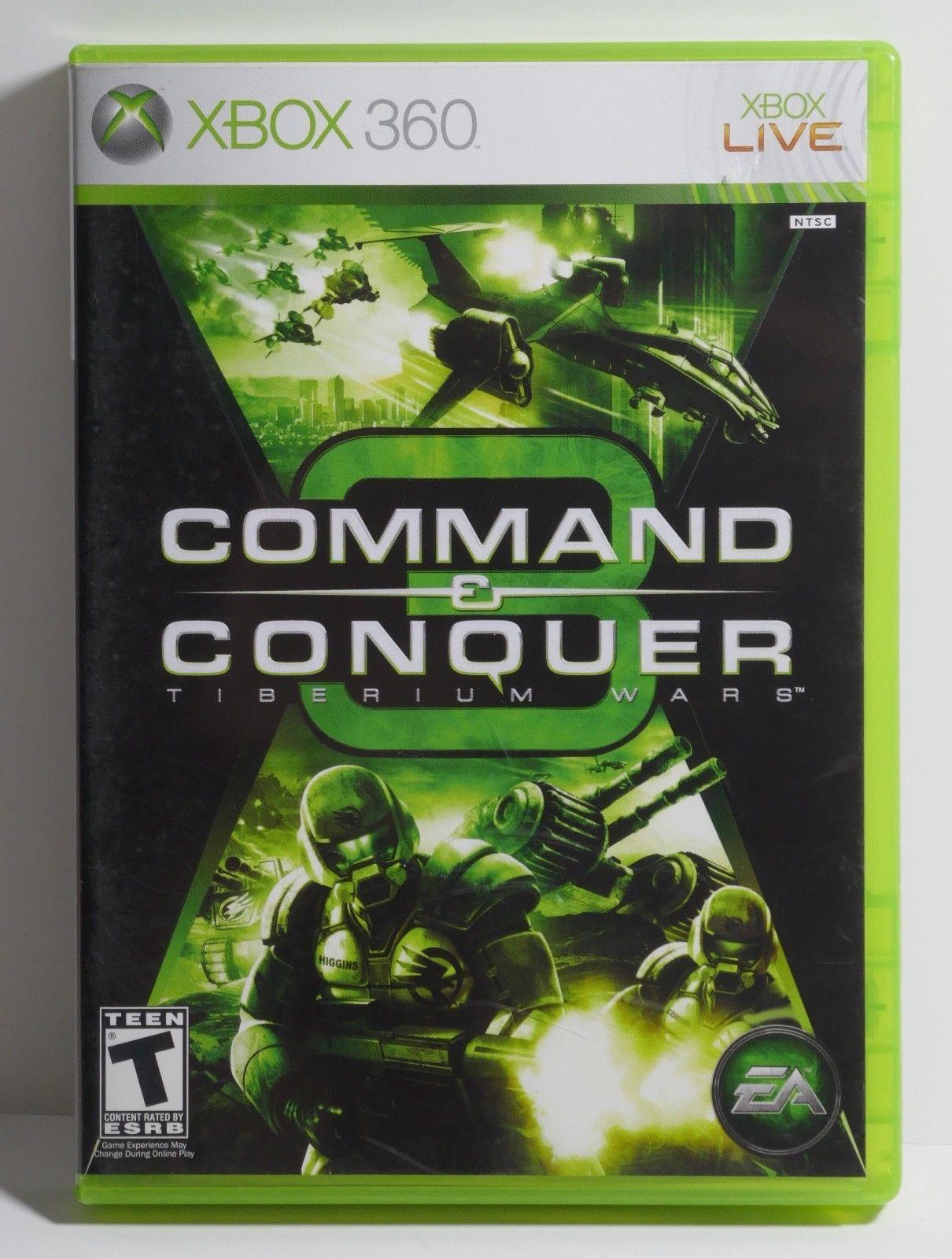 Command & Conquer 3: Tiberium Wars (Microsoft Xbox 360, 2007) COMPLETE