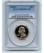 1988 S 25C Washington Quarter Proof PCGS PR69DCAM - $18.69