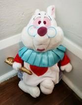 "Disney Store Alice in Wonderland 15"" White Rabbit Plush - $29.02"