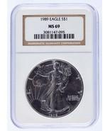 1989 Argento American Eagle Selezionato di NGC As MS-69 - $49.92