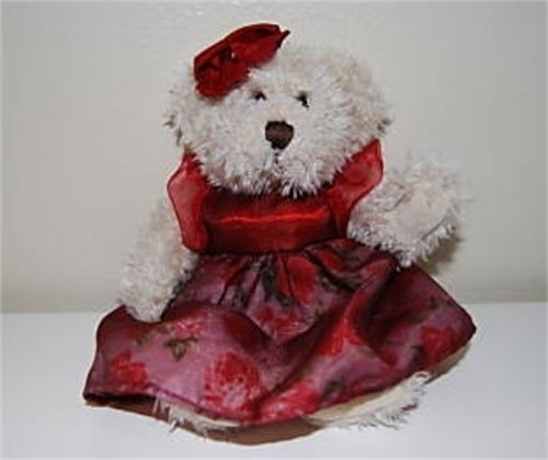 """Claudette"" Plush Stuffed Bear by the Russ Berrie Collection"