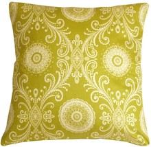 Pillow Decor - Filigree Green 17x17 Throw Pillow - $29.95