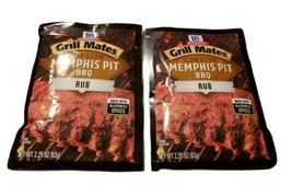 McCormick Grill Mates Slow & Low Memphis Pit BBQ Rub 4 Pack Best By 2022 - $9.79
