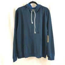Threads 4 Thought Mens Hoodie Fleece Lined Pullover Navy Blue Pockets XL - $24.18
